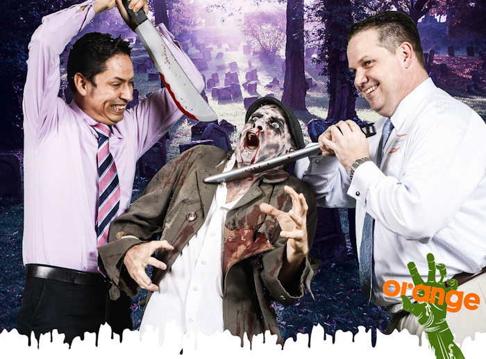 zombie photo booth green screen