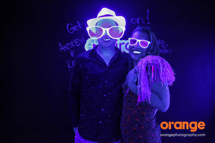 black light photo booth