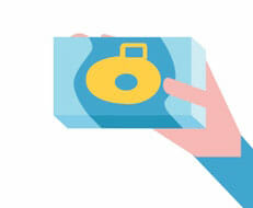 disposable camera app graphic by photojojo