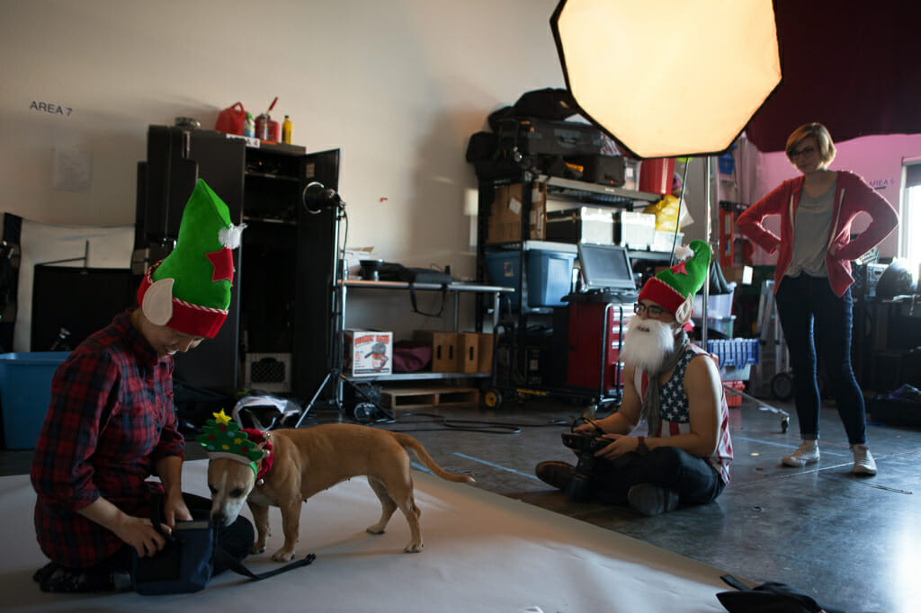 Behind the scenes: Jung, Billy, and Shannon photographing Bright Eyes
